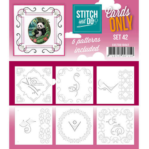 Card Deco - Stitch & Do - Oplegkaarten - Cards only - Set 42 - COSTDO10042