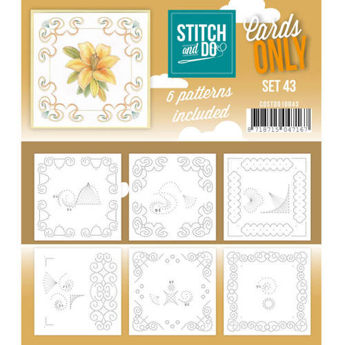 Card Deco - Stitch & Do - Oplegkaarten - Cards only - Set 43 - COSTDO10043
