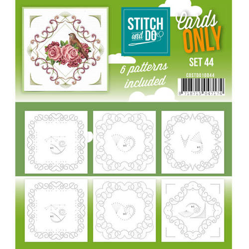 Card Deco - Stitch & Do - Oplegkaarten - Cards only - Set 44 - COSTDO10044