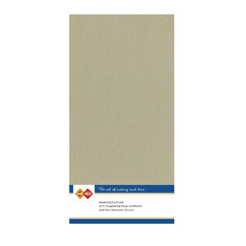 Card Deco - LinnenArt - 135 x 270mm: Taupe - 4K53