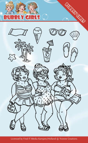 Yvonne Creations - Clearstamp - Bubbly Girls - Beach Girls - YCCS10042