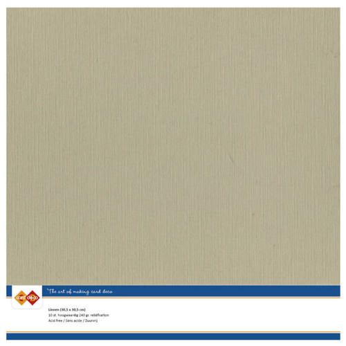 Card Deco - LinnenArt - 305 x 305mm: Taupe - 53
