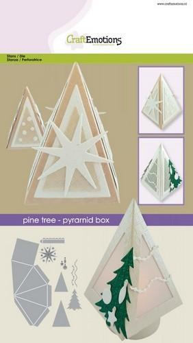 CraftEmotions - Die - Denneboom - Piramide box - 115633/1506