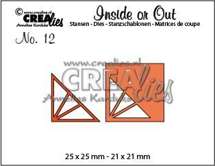 Crealies - Die - Inside or out - Corners F - CLIO12