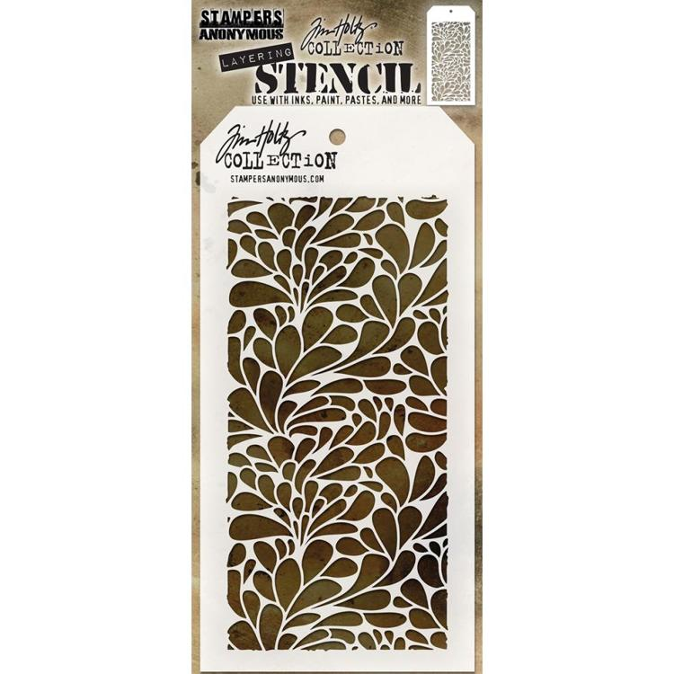 Stampers Anonymous - Tim Holtz - Layering stencil - Splash- THS080