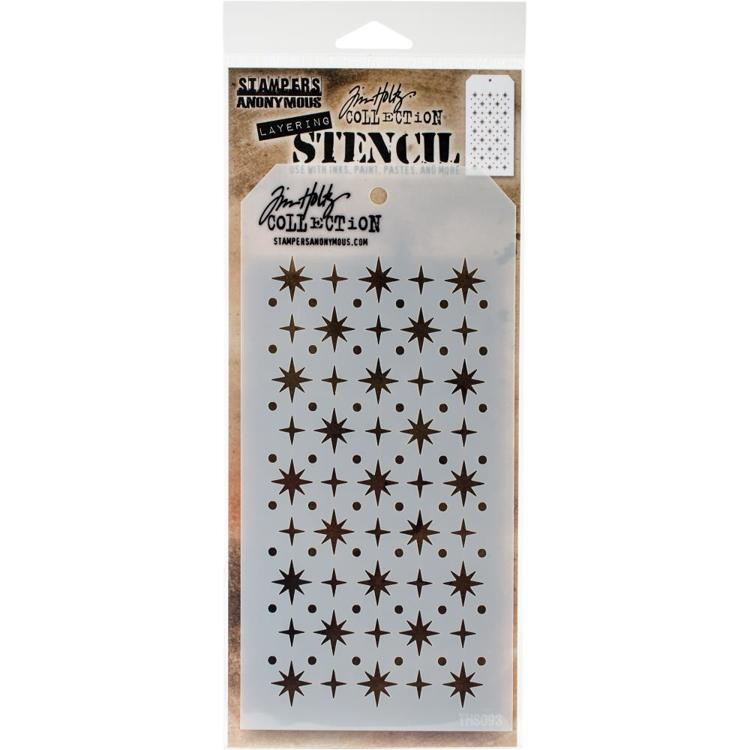 Stampers Anonymous - Tim Holtz - Layering stencil - Starry - THS093