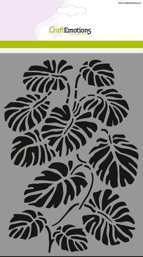 CraftEmotions - Maskingstencil - Monstera bladen - 185070/1260
