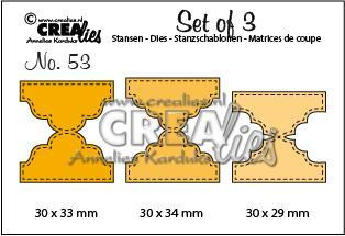 Crealies - Die - Set of 3 - Double Tabs A - CLSET53