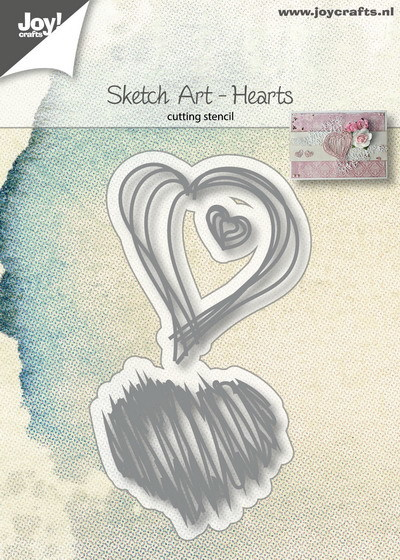 Joy! crafts - Die - Sketch Art - Hearts - 6002/1136