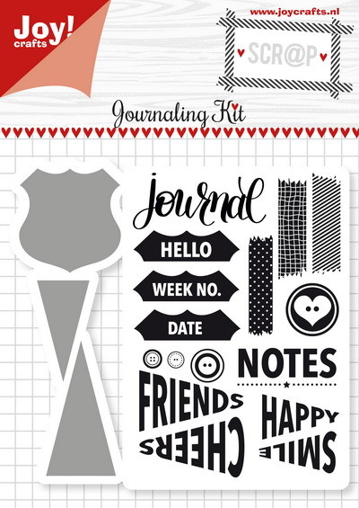 Joy! crafts - Noor! Design - Die met clearstamp - Journaling Kit - 6004/0028