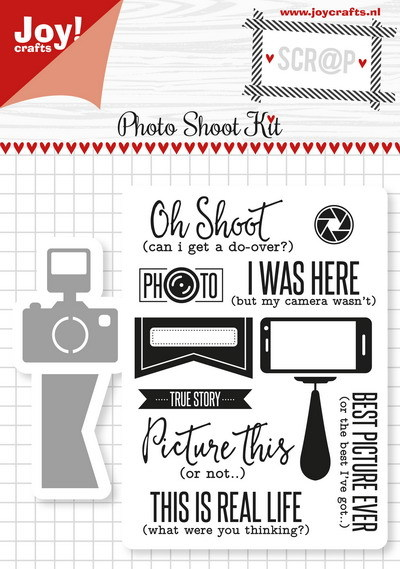 Joy! crafts - Noor! Design - Die met clearstamp - Photo Shoot Kit - 6004/0029