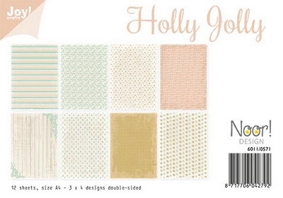Joy! crafts - Noor! Design - Paperset - Holly Jolly - 6011/0571