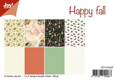 Joy! crafts - Paperset - Happy Fall - 6011/0558