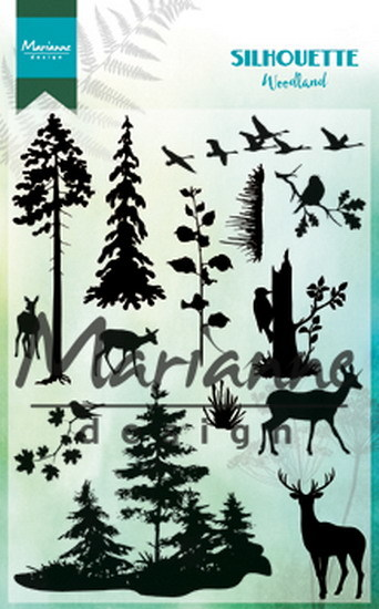 Marianne Design - Clearstamp - Silhouette Woodland - CS1014