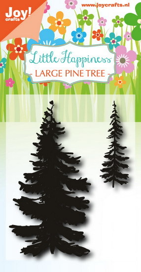 Joy! crafts - Noor! Design - Clearstamp - Little Happiness - Large Pine Tree - 6410/0488