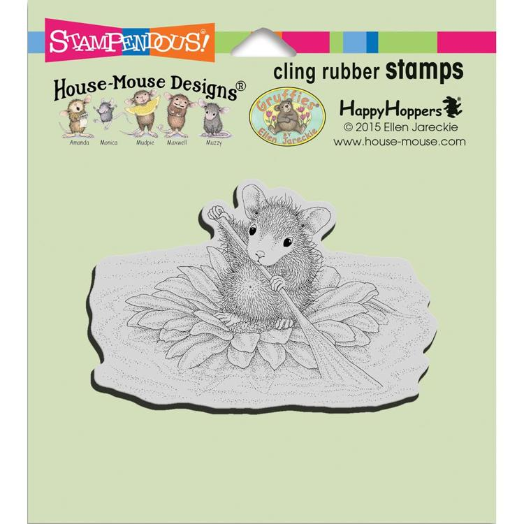 Stampendous - Cling Stamp - House Mouse - Petal Paddler - HMCM20
