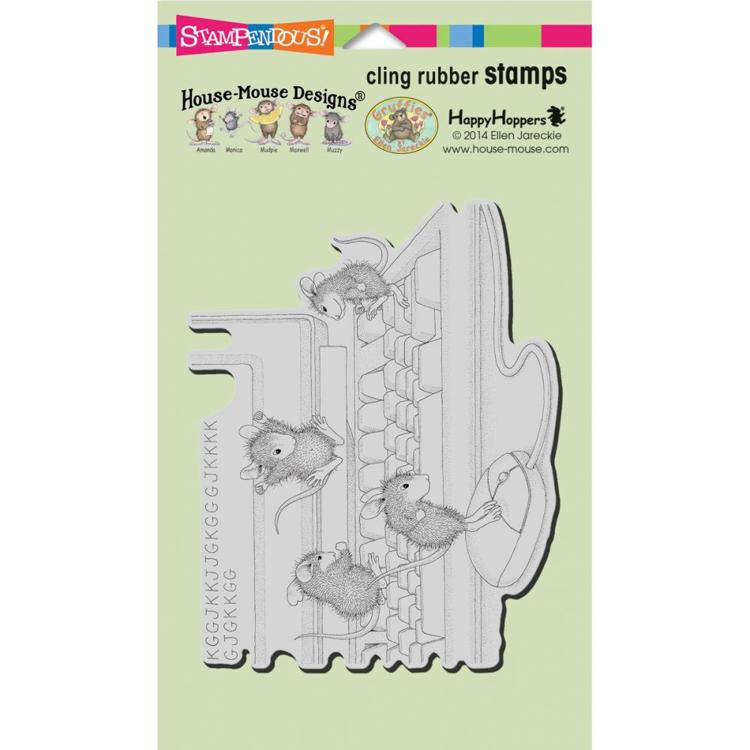 Stampendous - Cling Stamp - House Mouse - Computer Mice - HMCR52