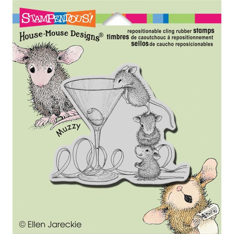 Stampendous - Cling Stamp - House Mouse - Martini Mice - HMCQ11