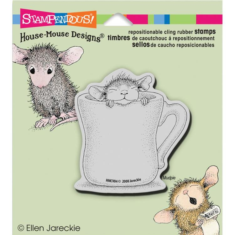 Stampendous - Cling Stamp - House Mouse - Warm Cup - HMCV04