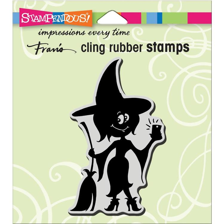 Stampendous - Cling Stamp - Witch Selfie - CRM339
