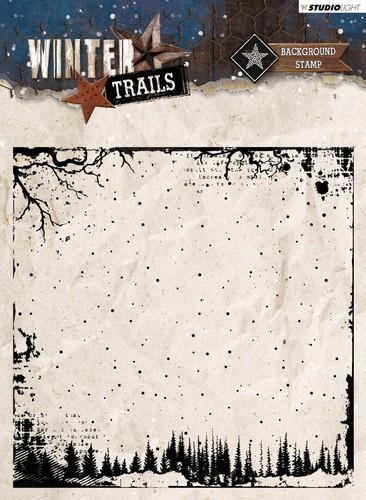 Studio Light - Clearstamp - Winter Trails - Background - STAMPWT304