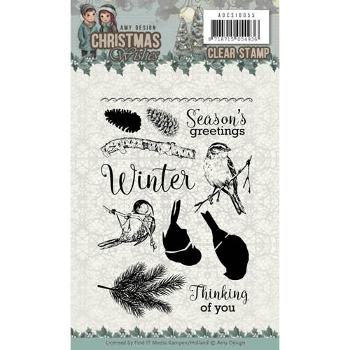 Amy Design - Clearstamp - Christmas Wishes - ADCS10055