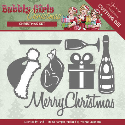 Yvonne Creations - Die - Bubbly Girls - Christmas - Christmas set - YCD10152