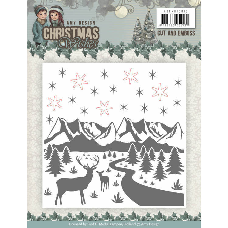 Amy Design - Embossingfolder - Christmas Wishes - ADEMB10010