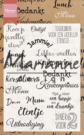 Marianne Design - Clearstamp - Menu - CS1015