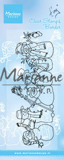 Marianne Design - Tiny`s - Clearstamp - Tiny`s Border Snowman - TC0869