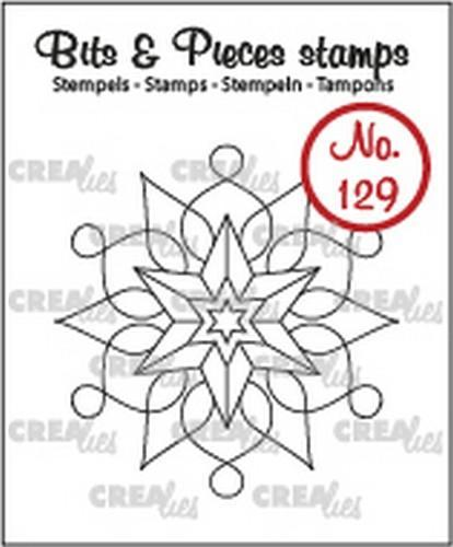 Crealies - Clearstamp - Bits & Pieces - No. 129 - Snowflake A - CLBP129