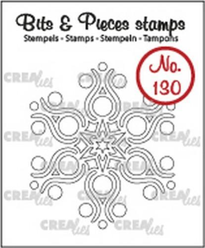 Crealies - Clearstamp - Bits & Pieces - No. 130 - Snowflake B - CLBP130
