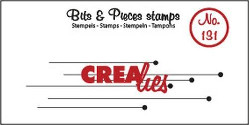 Crealies - Clearstamp - Bits & Pieces - No. 131 - Hanging dots - CLBP131