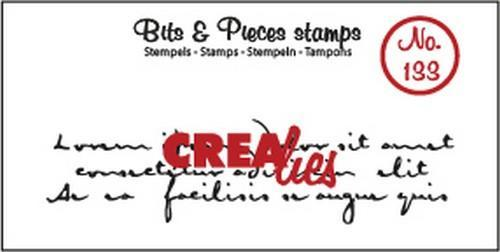 Crealies - Clearstamp - Bits & Pieces - No. 133 - Old handwriting - CLBP133