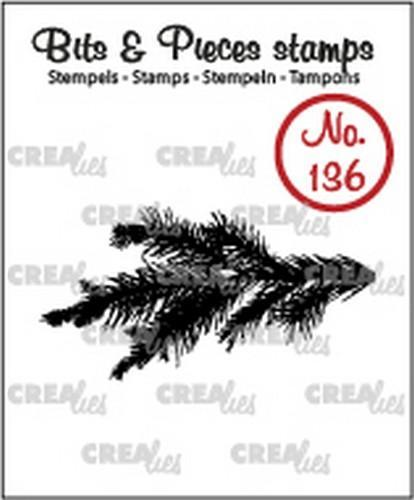Crealies - Clearstamp - Bits & Pieces - No. 136 - Pine branch - CLBP136