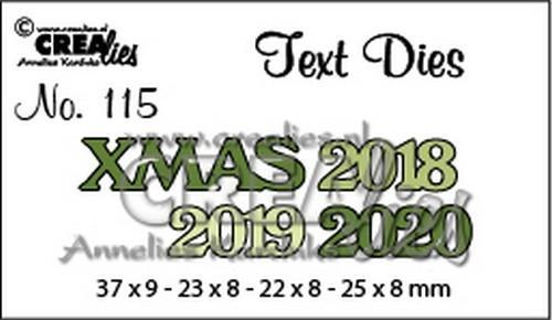 Crealies - Die - Tekststans - English Text - XMAS - CLTD115