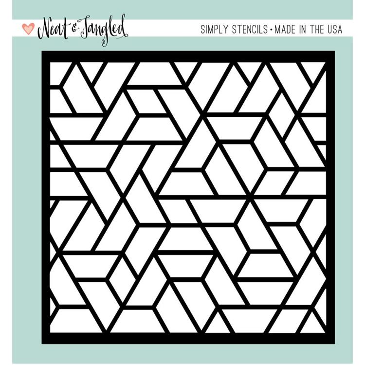 Neat & Tangled - Maskingstencil - Polygon - NAT257
