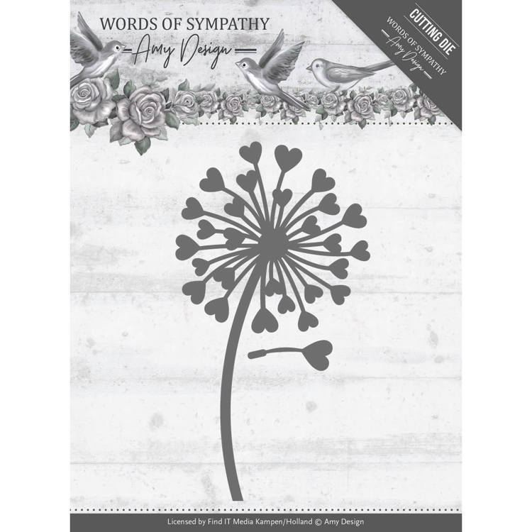 Amy Design - Die - Words of Sympathy - Sympathy Flower - ADD10155