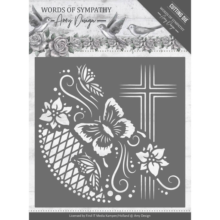 Amy Design - Die - Words of Sympathy - Cross Frame - ADD10154
