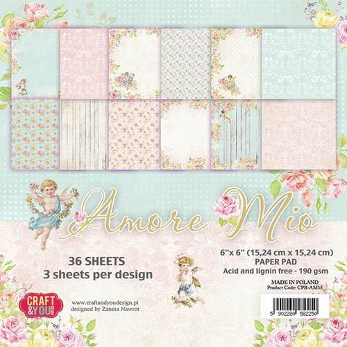 Craft & You Design - Paperpack - 152 x 152mm - Amore Mio - CPB-AM15