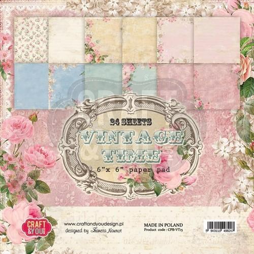 Craft & You Design - Paperpack - 152 x 152mm - Vintage Time - CPB-VT15