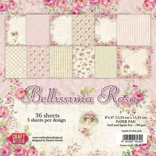 Craft & You Design - Paperpack - 152 x 152mm - Bellissima Rosa - CPB-BR15