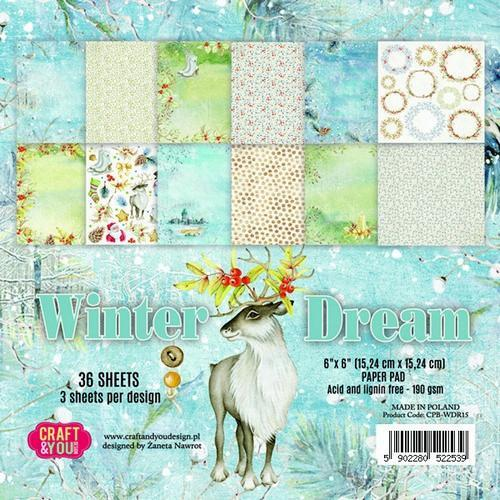 Craft & You Design - Paperpack - 152 x 152mm - Winter Dream - CPB-WDR15