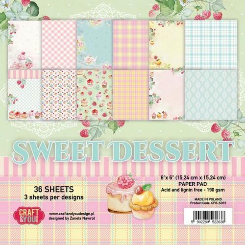 Craft & You Design - Paperpack - 152 x 152mm - Sweet Dessert - CPB-SD15