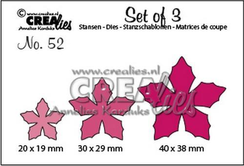Crealies - Die - Set of 3 - Flowers no. 52 - CLSet52