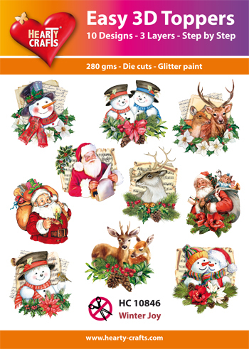 Hearty Crafts - Easy 3D Toppers - Winter Joy - HC10846