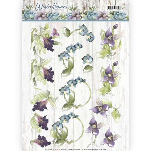Precious Marieke - 3D-knipvel A4 - Winter Flowers - Orchids - CD11188