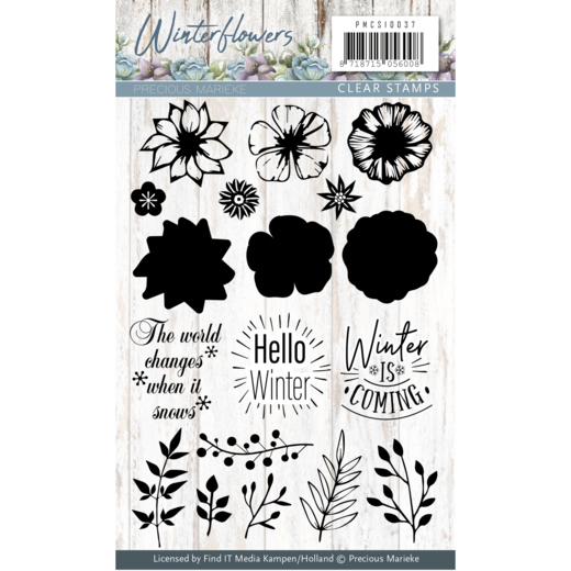 Precious Marieke - Clearstamp - Winter Flowers - PMCS10037