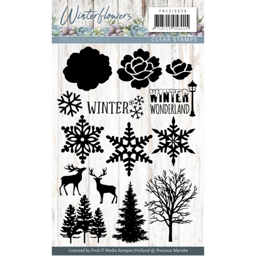 Precious Marieke - Clearstamp - Winter Flowers - PMCS10038