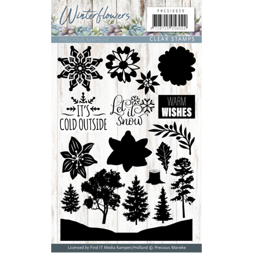 Precious Marieke - Clearstamp - Winter Flowers - PMCS10039